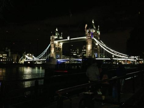 City at night. London. July 2013.