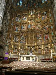 Inside a church. Vatican City. March 2015.